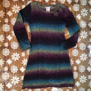 Bonnie Jean Girls Multicolor Sweater Dress